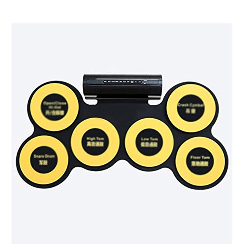 Qinmo Percusión, batería electrónica portátil, Roll juego de batería Hasta la Toma...