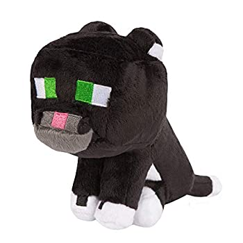 JINX Minecraft Tuxedo Cat Plush Stuffed Toy Black/White 8  Tall