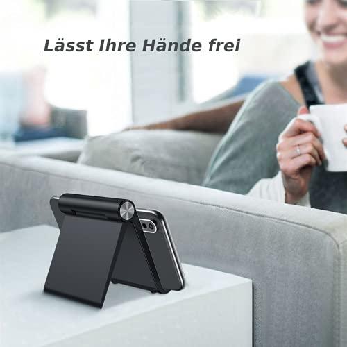 INVID Handy Ständer 98x86mm Tablet Stand,Smartphone Halter-Smartphone Ständer Handyhalterung,Handyhalterung Schreibtisch,Smartphone ständer iPhone Stand