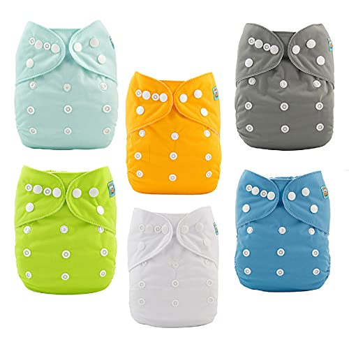 ALVABABY Baby Cloth Diapers One Size
