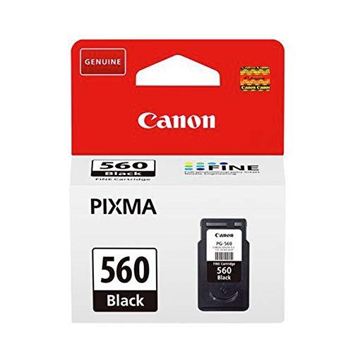 Canon PG-560 - Cartucho de Tinta Original Negro para impresoras de inyección de Tinta Pixma TS5350, TS5351, TS5352, TS5351