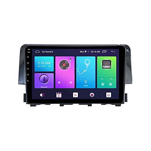 Autoradio Video Stereo Unità principale Navigazione GPS Lettore multimediale Navigatore satellitare per HONDA CIVIC 2016 Supporto Bluetooth Mirror Link Mappa Comandi al volante, 8 Core 4G + WiFi: 4 +