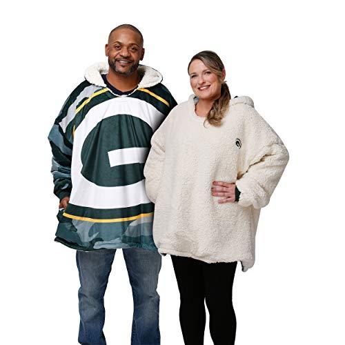 FOCO Green Bay Packers NFL Reversible Team Color Camo Hoodeez