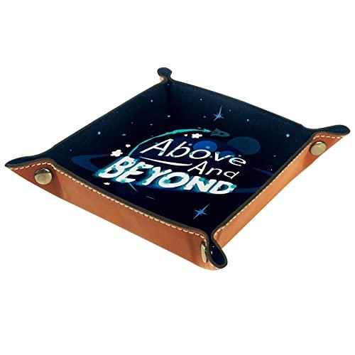 Caja de reloj de cuero de la galaxia con letras inspiradoras para los hombres Key Wallet monedero viaje
