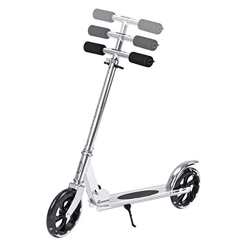 HYE-SPORT Kick Scooter for Toddlers Kids 8+, Adjustable Height, Quick-Release Folding System, Rear Brake, Great for Riders up to 220 lbs