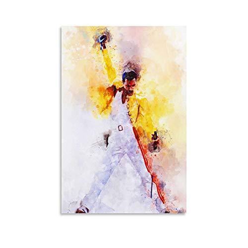 DIDIWEI Freddie Mercury Displate - Poster artistico da parete con immagine moderna della famiglia, 30 x 45 cm