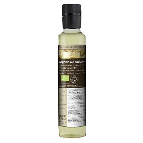 Olio Alimentare di Noce di Macadamia Biologico – Naturale al 100% - 250ml