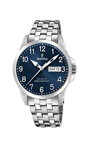Festina Unisex Erwachsene Analog Quarz Uhr mit Edelstahl Armband F20357/C