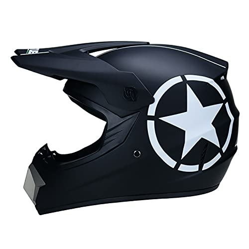 LGLE Casco completo de MTB con gafas de guantes, casco de motocross para hombre MTB Racing Off Road casco adulto motocicleta Crash casco, aprobado por DOT, B, XL