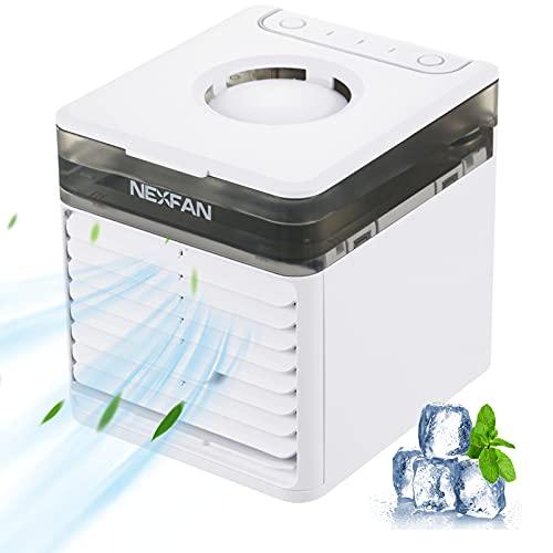 Loocoo, ventola di raffreddamento con 7 colori, 3 velocità di raffreddamento, condizionatore portatile, condizionatore d'aria evaporativo, adatto per ufficio, stanza, campeggio…