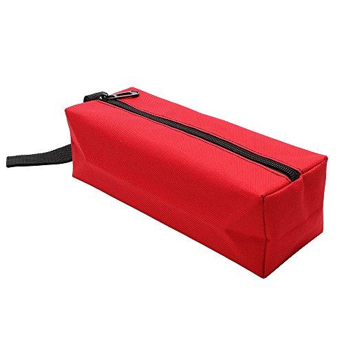 iTimo - Bolsa de herramientas para guardar herramientas, tornillos, clavos, brocas de metal, herramientas Oxford, portátil, resistente al agua (Rojo)