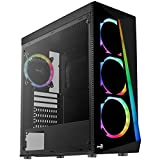 Aerocool Shard Tempered Glass RGB MID Tower CASE, Black