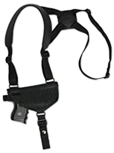 Barsony New Cross Harness Shoulder Holster for Compact 9mm 40 45 Pistols