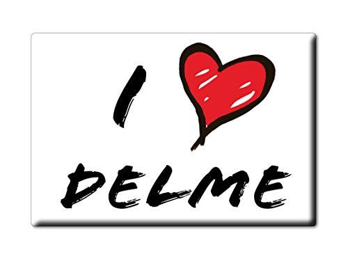Enjoymagnets DELME CALAMITA Magnete ÎLE DE France (57) Regno Unito UK Fridge Magnet Souvenir I Love (VAR. Informal)