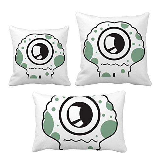 DIYthinker Universo y Alien Spotted Alien, juego de almohadas de cojín con relleno para decoración de sofá