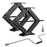 Kohree 5600lbs RV Stabilizer Leveling Scissor Jacks 24' for Travel Trailer Camper, Set of 2, Heavy Duty RV Stabilizer Jacks Kit with Crank Handle and Drill Bit