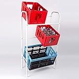 HAC24 Getränkekistenregal Kastenregal Weiß Flaschenkastenregal Kistenregal Kistenständer Getränkeständer Kastenständer