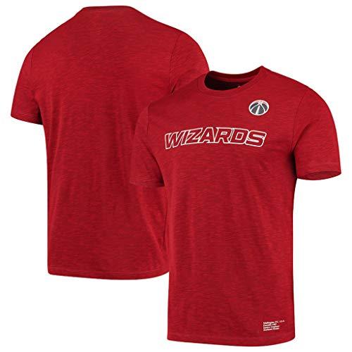NBA Camiseta Washington Wizards Los Aficionados De Los Hombres Jersey Transpirable De Secado Rápido De Atletismo De Cationes Ropa De Verano para Los Jóvenes S-XXXL Red-M