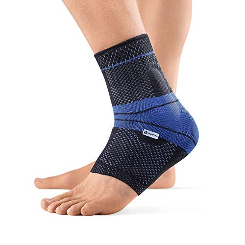 Bauerfeind - MalleoTrain - Ankle Support Brace - Helps Stabilize The Ankle Muscles and Joints for Injury Healing and Pain Relief - Right Foot - Size 3 - Color Black