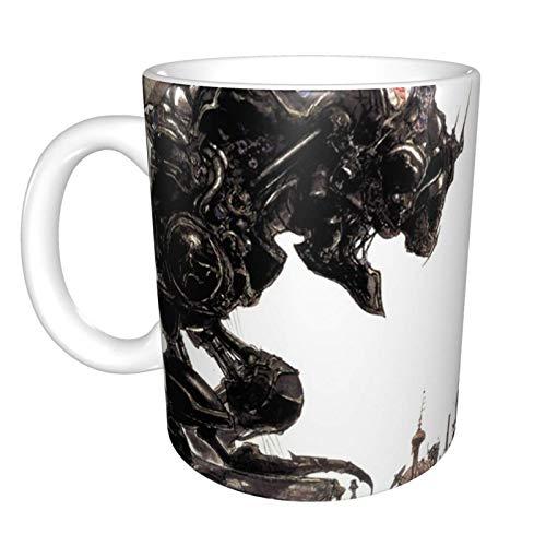 N\A Yoshitaka Amano - Obra de Arte de Final Fantasy Vi Taza de café de cerámica Divertida única en casa Oficina Taza de té de café para Regalo de Festival de Novedad