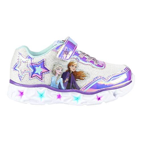 CERDÁ LIFE'S LITTLE MOMENTS Cerdá-Zapatillas LED Frozen de Color Plateado, Niñas, 30 EU