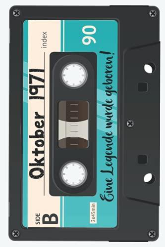 Mein 50er Geburtstag. Geburtsjahrgang 1971: Liniertes Notizbuch zum 50. Geburtstag - Tolles Geschenk für Frauen und Männer - Perfekt als Tagebuch oder ... festzuhalten - Liebhaber 70er und 80er Jahre