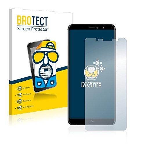 BROTECT 2X Entspiegelungs-Schutzfolie kompatibel mit BQ Aquaris X2 / X2 Pro Bildschirmschutz-Folie Matt, Anti-Reflex, Anti-Fingerprint