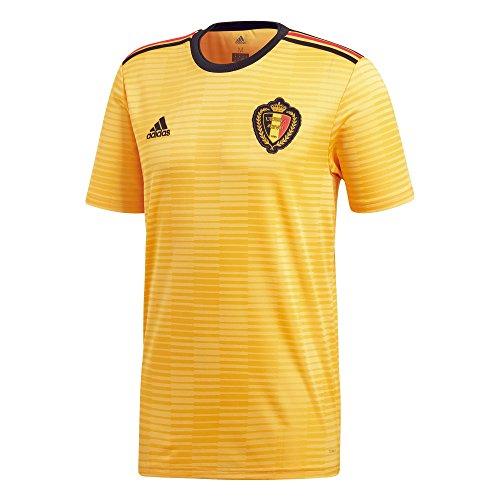 adidas Kinder Belgien Auswärtstrikot, Bold Gold/Black/Vivred, 152.0