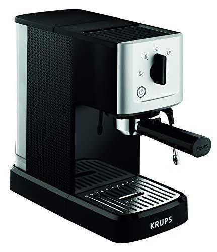 Krups Xp3440 Espresso-Automat Calvi, 1,460 W, 1,1 L Fassungsvermögen Einer Der Kompaktesten Siebträger-Automaten Auf Dem Markt, Schwarz/Edelstahl (Generalüberholt)