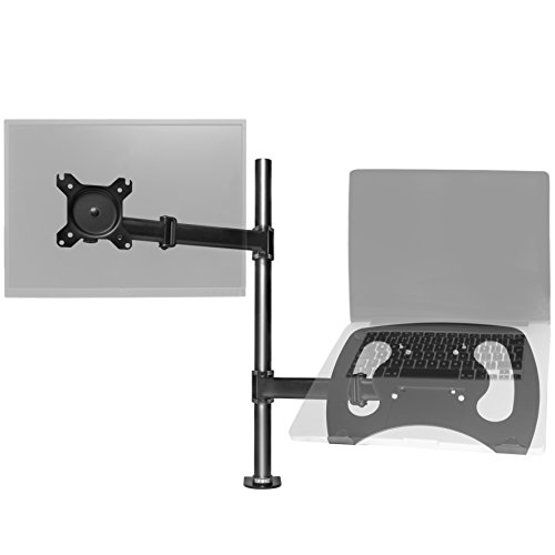 "Duronic Desk Mount DM25L1X1 | Single Monitor Stand for 13""-27"" LCD/LED PC/TV Screen and Laptop 