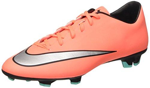 Nike Mercurial Victory V Fg, Scarpe da Calcio Uomo, Arancione (Bright Mango/Metallic Silver), 44 EU