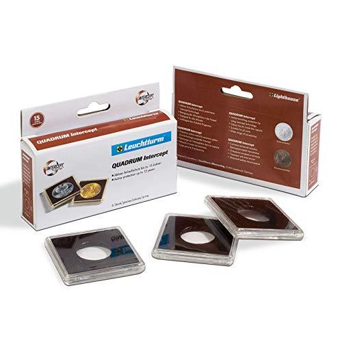 Cápsulas para monedas QUADRUM Intercept, diámetro 40 mm, negra
