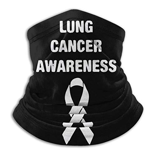 XXWKer Microfibre Chapeaux Tube Masque Visage Tour de Cou Cagoule, Lung Cancer Awareness Unisex Cold Weather Ultimate Thermal Retention Face