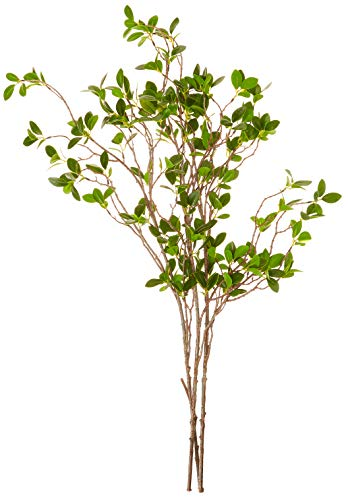 Jiji Mercantile Ficus Eucalyptus Artificial Branches Greenery Stems twig Spray Silky Plant 31 inches Elegant Box Decorate Home Office, Holiday, Wedding Faux Fake Style