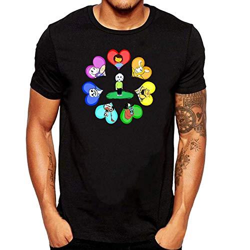 ZOMMING tee Undertale 1 Hombre Camiseta Negro/Hombre T Shirts Negro