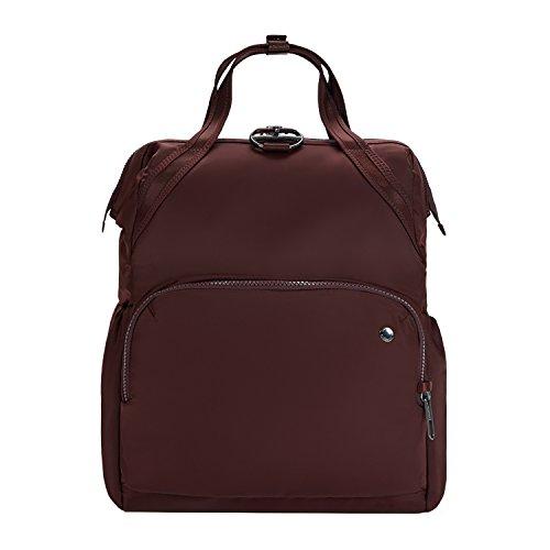 Pacsafe Citysafe CX, Daypack,Henkeltasche, Rucksack mit Diebstahlschutz, Weinrot / Merlot