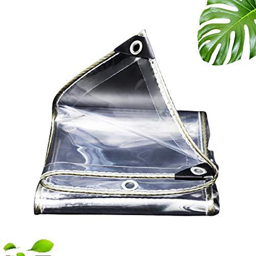 Plane PVC Transparent Wasserdichte Abdeckplane Gewebeplane,mit Ösen,Vordächer und Planen,Strapazierfähige,Wetterfeste,Faltbar,für...