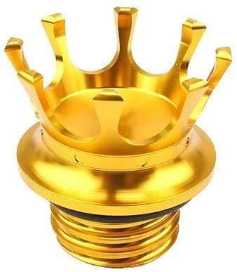 Felicey Perfekt geeignet für Praktisches Motorrad-Zubehör Motorrad Tankdeckel CNC Kronen-Art-Flush Oil Tankdeckel for HA.RL.EY Sport 883 1200 XL Road King Dyna 1996-2018 Softail Champagne Stylistische