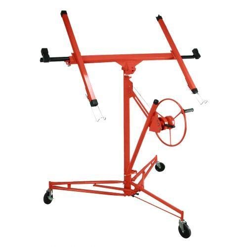 Drywall Lift Panel 11' Lift Drywall Panel Hoist,Jack Lifter Jack Rolling Caster Wheel Drywall Lift Construction Tools