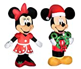 Mickey Mouse Minnie Mouse Christmas Inflatable 5 Tall LED Lighted Airblown Holiday Yard Decoration