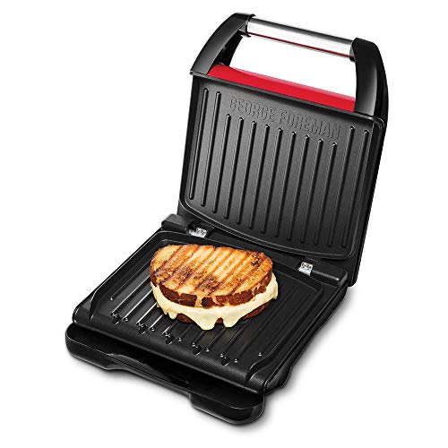 George Foreman Compact – Grill Eléctrico (Plancha Grill de 1200 W, 3...