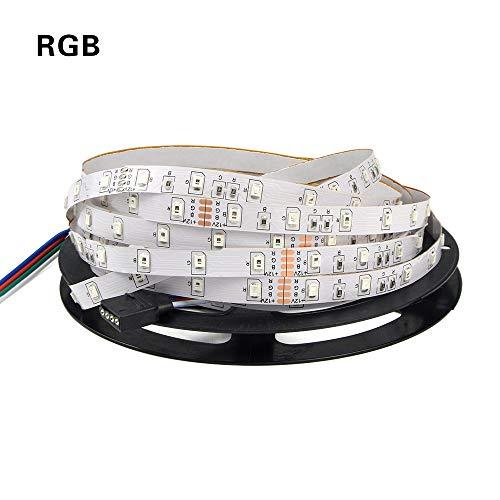 SUNXK 5M 12V 300LEDs RGB en zwart-wit LED-lamp met licht en lantaarn snaar huis woonkamer slaapkamer voertuig binnenverlichting SUNXK (Emitting Color : Warm White Strip)