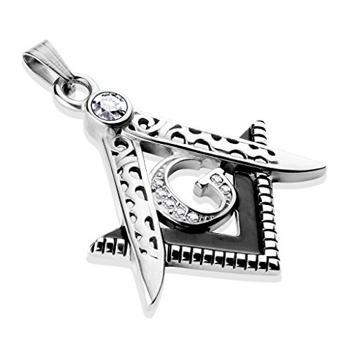 Tapsi´s Coolbodyart®  Ketten Anhänger Edelstahl Masonic Freimaurer Silber
