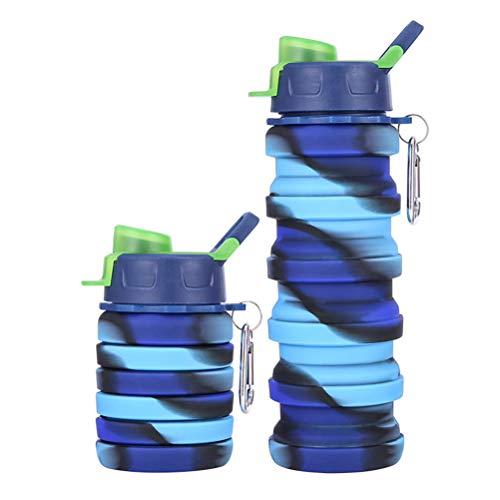 Suszian Vaso Plegable, Botellas de Agua Plegables portátiles Botella de Agua de...