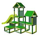 move and stic Spielturm Kletterturm Gesa mit Rutsche für Kleinkinder mit Kriechtunnel Mas (grün...