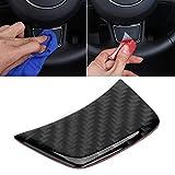 Wcnsxs Etiqueta engomada del Volante del Coche de Fibra de Carbono, para Audi Sline A6 C6 A6L A4L Q5 Q3 A3 Sline Emblem Sticker Tuning Accesorios Interiores