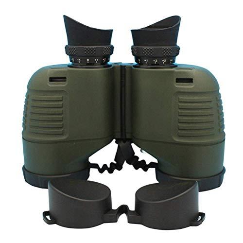 Boshile 7x50 Prismaticos Profesionales con telémetro para Adultos, visión Nocturna compacta Binoculares a Prueba de Agua, para observación de Aves, Viajes,Náutica,Green