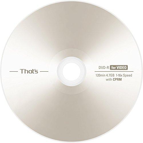 【Amazon.co.jp 限定】That's 太陽誘電 日本製 DVD-R ビデオ用 CPRM対応 4.7GB 16倍速対応 600枚 (6 x 100PCS) シュリンクパック MID: TYG03-VIDEO600PCS