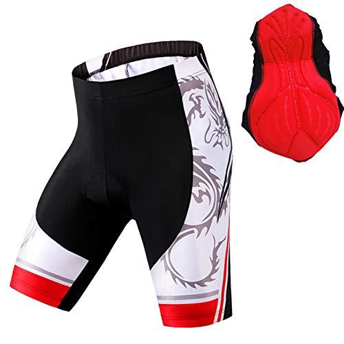 Culotes Ciclismo Hombre Gel Corto,Apretado Pantalon Corto Montaña Hombre,Hombres y Mujeres Verano Culotte Ciclismo Hombre,para Correr Deportes al Aire Libre Pantalon Corto(Size:Metro,Color:Rojo)