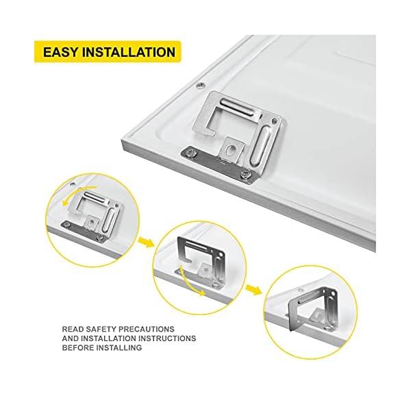 NUWATT 4 Pack, 2×4 FT LED Ceiling Panel, 50W, 5000K, 5500 Lumens, 120-277V, 0-10V Dimmable, Flat Backlit Fixture, Flush…